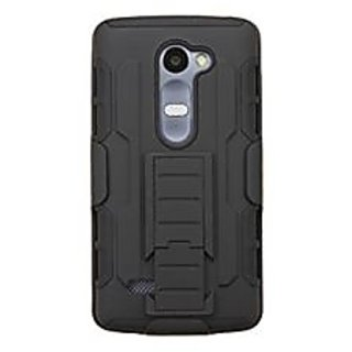 Asmyna Phone Case for LG H340 (LEON) LG H326 - Retail Packaging - Black