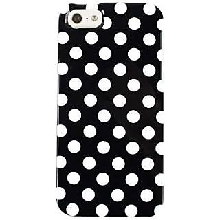 Cell Armor I5-SNAP-TP1632 Snap-On Case for iPhone 5 - Retail Packaging - White Dots On Black