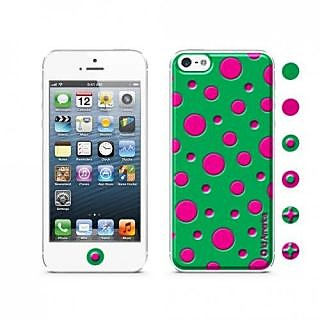 id America CSIA501-GRN Cushi Case for iPhone 5 - Retail Packaging - Green Dot