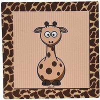 3dRose LLC 8 X 8 X 0.25 Inches Giraffe With Giraffe Print Mouse Pad (mp_21786_1)
