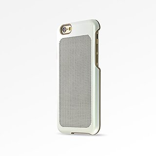 iPhone 6s Case, COOLMESH Aerospace Stainless Steel Case for iPhone 6 /6s - White/Gold Trim Dot