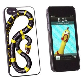 Graphics and More Black and Yellow Snake Reptile Snap-On Hard Protective Case for Apple iPhone 5/5s - Non-Retail Packagi