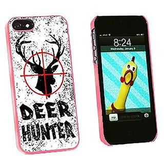 Graphics and More Deer Hunter Buck Hunting Distressed Snap-On Hard Protective Case for iPhone 5/5s - Non-Retail Packagin