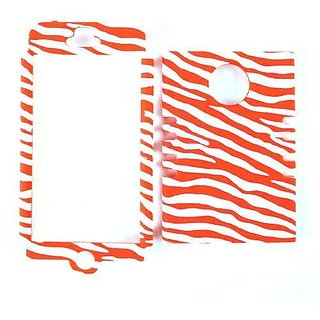 Cell Armor Rocker Snap-On Case for iPhone 5 - Retail Packaging - Red Zebra on White