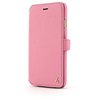 Story Leather Apple iPhone 6 / 6s Napa Pink Genuine Leather Handcrafted Book Style Wallet Phone Case