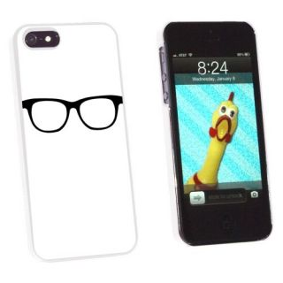 Graphics and More Hipster Glasses Snap-On Hard Protective Case for Apple iPhone 5/5s - Non-Retail Packaging - White