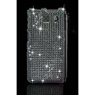 Eagle Cell PDSY6780F01 RingBling Brilliant Diamond Case for Sanyo Innuendo 6780 - Retail Packaging - Black