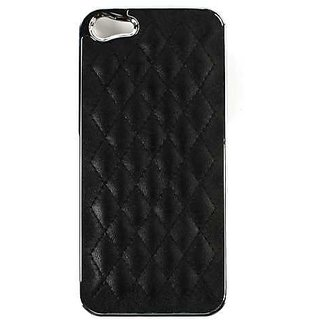 Cell Armor Hybrid Novelty Case for iPhone 5 - Retail Packaging - Black Fabric