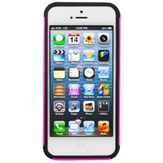 Decoro HCIP5FLHPBK Frosted Slim Line Hybrid Silicone Protector Case for Apple iPhone 5 - 1 Pack - Retail Packaging...