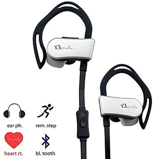 BPULS Pluse Wireless HIFI Earbuds Bluetooth Headset Double Mode With APP Built in Heart Rate Monitor (Black)