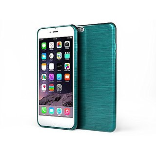 Glossy Outer Brushed Ultra Soft TPU Protective Case Iphone 6 (Blue)