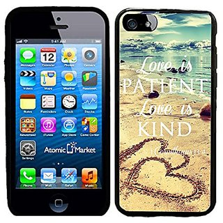 Love Is Patient Love Is Kind With Hearts On Beach Case / Cover For Apple Iphone 6 or 6S by Atomic Market