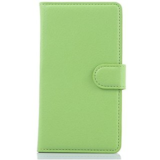 Premium PU Leather Wallet Case Cover with Card Slots and Cash Compartment Case For iPhone 5 / 5s (Wallet Green)
