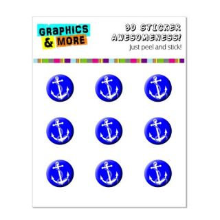 Graphics and More Anchor And Rope - Ship Boat Boating Home Button Stickers Fits Apple iPhone 4/4S/5/5C/5S, iPad, iPod To