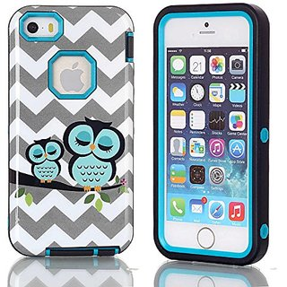 iPhone 5S Case,iPhone SE Case, Welity Durable Shockproof Hybrid Layer Armor Three Pieces Layers 3 in 1 High Impact Soft