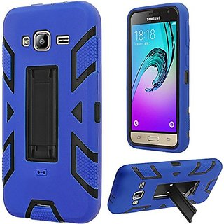 HR Wireless Carrying Case for Samsung Galaxy J3 - Retail Packaging - Black/Blue