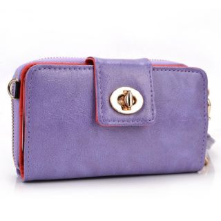 Kroo Magnetic Clutch Wristlet for Apple iPhone 5/5S - Frustration-Free Packaging - Purple