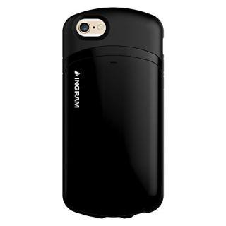 INGRAM Gram4 Capsule Card Cell Phone Case for Apple iPhone 6 - Retail Packaging - Matt Black