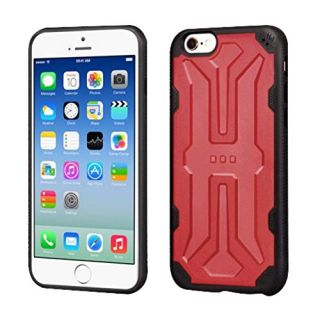 MyBat Cell Phone Case for Apple iPhone 6s/6 - Retail Packaging - Black/Red