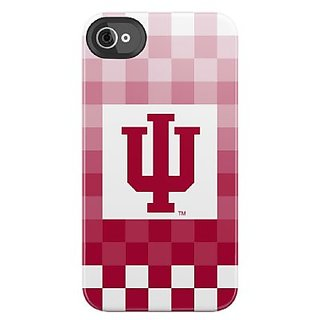 Uncommon LLC Indiana University Pixel Stripe Black Bezel Deflector Hard Case for iPhone 4/4S - Carrying Case - Retail Pa