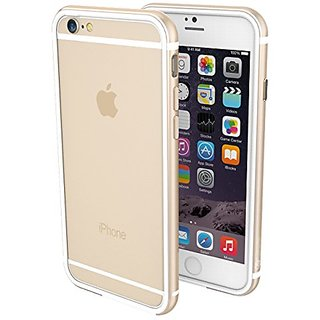 K11 Premium Bumper for Apple iPhone 6 Plus/6s Plus - White/Gold, Case, TPU