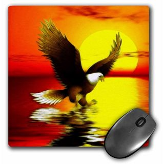 3dRose LLC 8 x 8 x 0.25 Inches Mouse Pad, Eagle at Sunset (mp_23313_1)