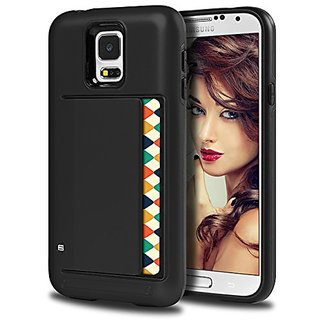 Galaxy S5 Case, Coolden™ Heavy Duty PC Grip Tough Armor + TPU Soft Cover Hybrid Card Slot Drop Protection Impact R
