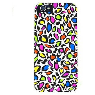 Cell Armor Hybrid Fit-On Case for iPhone 5 - Retail Packaging - Colorful Leopard Print on White