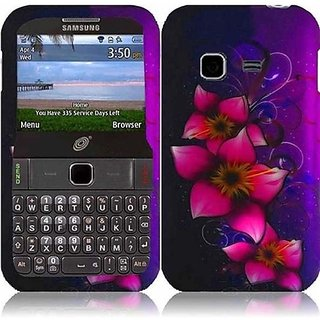 HR Wireless Samsung Freeform M Rubberized Design Cover Case - Retail Packaging - Mystical Flower