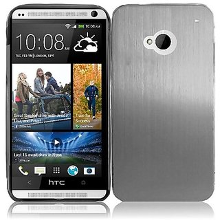 HR Wireless HTC One Metal Protective Cover - Retail Packaging - Silver