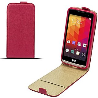 Moozy Magic Diamond Shine effect Pocket Slim Flip Case LG Leon H340N vertical case cover Red Tln