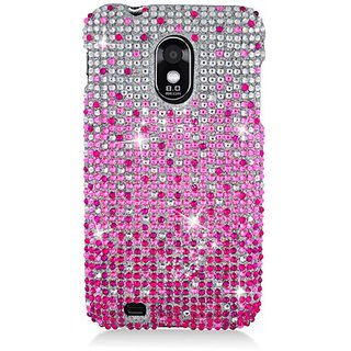 Eagle Cell PDSAMD710F380 RingBling Brilliant Diamond Case for Samsung Galaxy S2/Epic 4G Touch/D710 - Retail Packaging