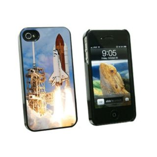 Graphics and More Space Shuttle Launch - Spaceship Discovery - Snap On Hard Protective Case for Apple iPhone 4 4S - Blac