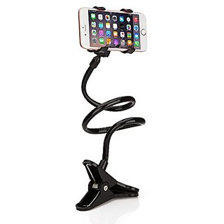 Guleek Universal Cell Phone Clip Holder Lazy Bracket Flexible Long Arms for iPhone,Smartphone,GPS Devices, Fit On Deskto