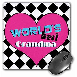 3dRose LLC 8 x 8 x 0.25 Inches Worlds Best Grandma Mouse Pad (mp_10843_1)