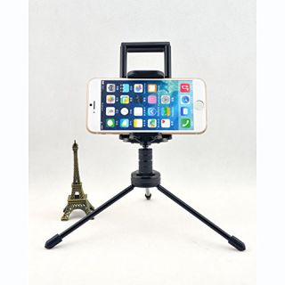Mini Tripod, Ball Head Mini Tripod Mount + Phone & Tablet Holder Clip Desktop Self-Tripod for Digital Camera & iPhone 6/