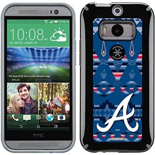 Coveroo CandyShell Black Cell Phone Case for HTC One M8 - Retail Packaging - Atlanta Braves Tribal Print