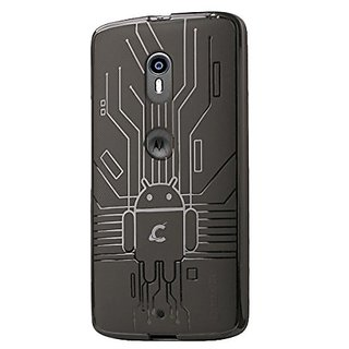 Cruzerlite Bugdroid Circuit Case Compatible with Motorola Moto X Play 2015 (3rd Generation) - Smoke