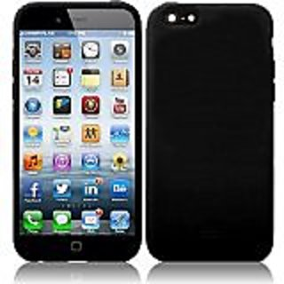 HR Wireless Silicone Skin Cover Case for iPhone 6 - Retail Packaging - Black