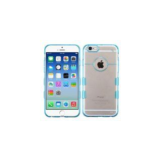 MyBat APPLE iPhone 6 Gummy Cover - Retail Packaging - Transparent/Blue