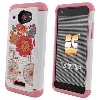 Beyond Cell Tri-Shield Case with Built-In Kickstand for HTC Droid DNA 6435 - Design Bird of Paradise - Retail Packaging