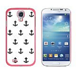 Graphics and More Ahoy Nautical Boat Theme Black and White Snap-On Hard Protective Case for Samsung Galaxy S4 - Non-Reta