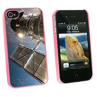 Graphics and More Hubble Telescope - Astronomy Space - Snap On Hard Protective Case for Apple iPhone 4 4S - Pink - Carry