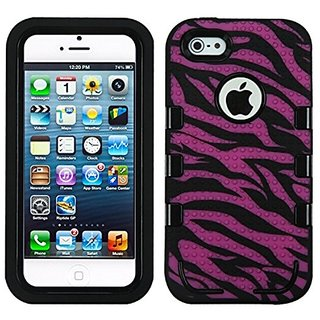 MYBAT TUFF eNUFF Hybrid Phone Protector Package - Retail Packaging - Hot Pink/Black