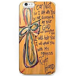 UKASE Back Cover Snap on Case for 5.5 inch iPhone 6 Plus with Inspiration Bible Sayings Fear Not, For I am with You Be N