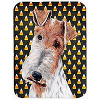 Carolines Treasures Wire Fox Terrier Candy Corn Halloween Mouse Pad/Hot Pad/Trivet (SC9652MP)