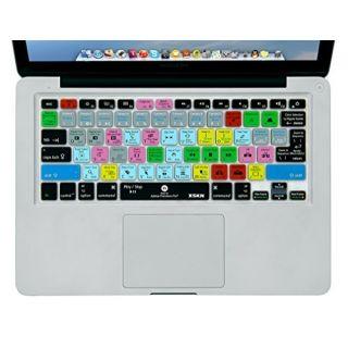XSKN Adobe Premiere Shortcuts Keyboard Skin Silicone Hotkeys Keyboard Cover for Macbook Air 13 & Macbook Pro 13 15 17, R