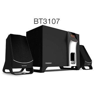 Boytone BT-3107F, Wireless Bluetooth 2.1 Multimedia Powerful Bass System with FM Radio, Remote Control Aux Port, USB/SD/