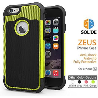 SOLiDE:emoji: ZEUS Anti-Shock case cover skin for iPhone 6, 6S -Lime (A6004)