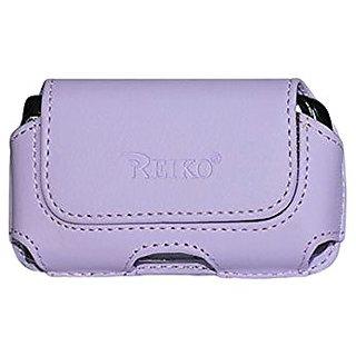 Reiko Horizontal Pouch for Motorola V9 - Retail Packaging - Purple